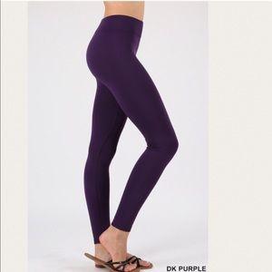 Zenana Outfitters Seamless Fleece Legging